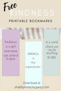 kindness bookmarks free printables