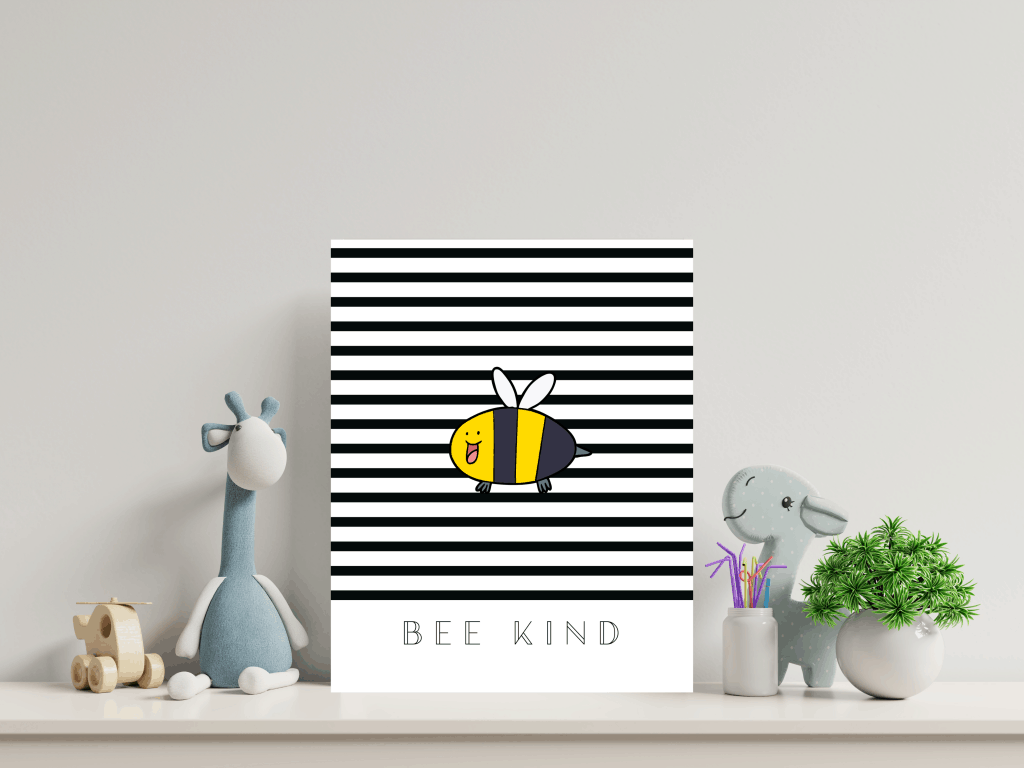 free wall art printable bee kind wall art frame