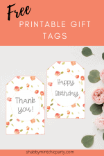 Free Printable Coral Floral Gift Tags