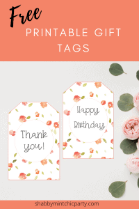 coral floral printable gift tags for blog