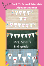 Welcome Back to School Free Alphabet Banner Printables