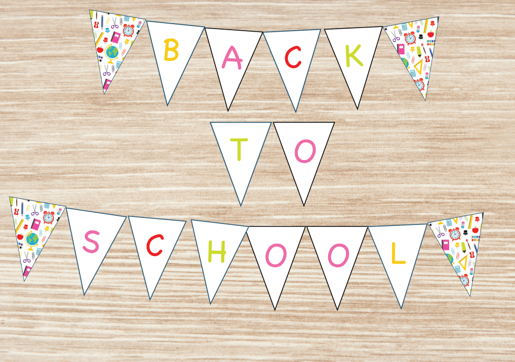 back to school banner free printable for school
