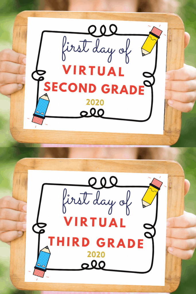 first day of school virtual second and third grade