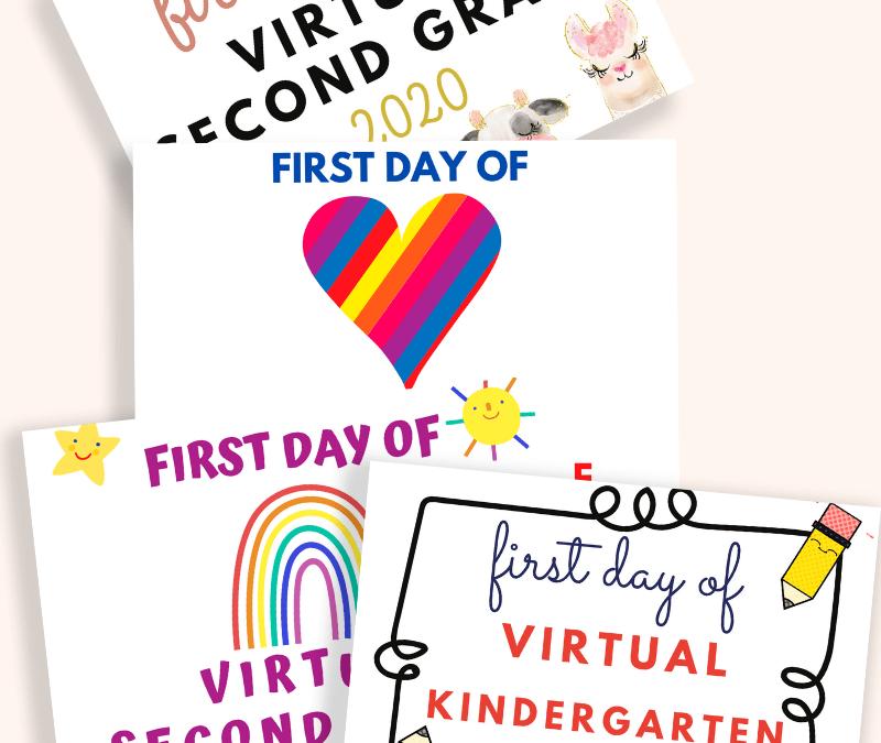 first day of virtual school 4 designs blog