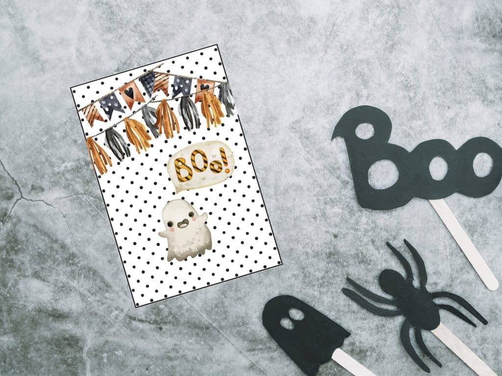 halloween gift tag ghost