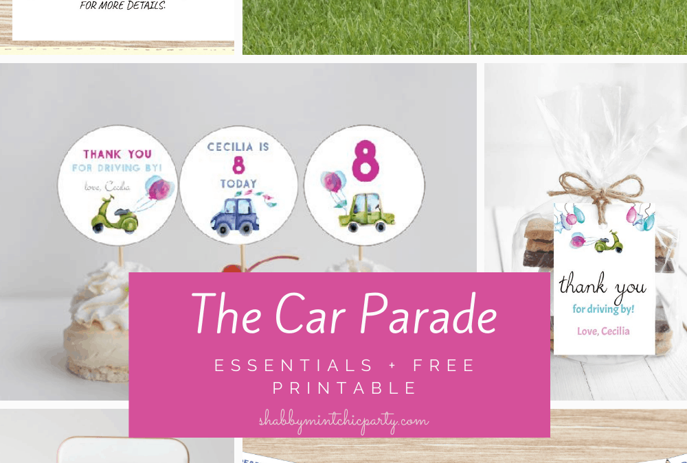 birthday car parade essentials and freebie