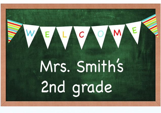 welcome back to school sign teacher free printable