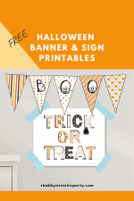 Free Halloween Printable Banner and Sign