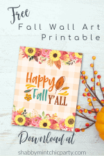 Happy Fall Y'All Free Printable Wall Art