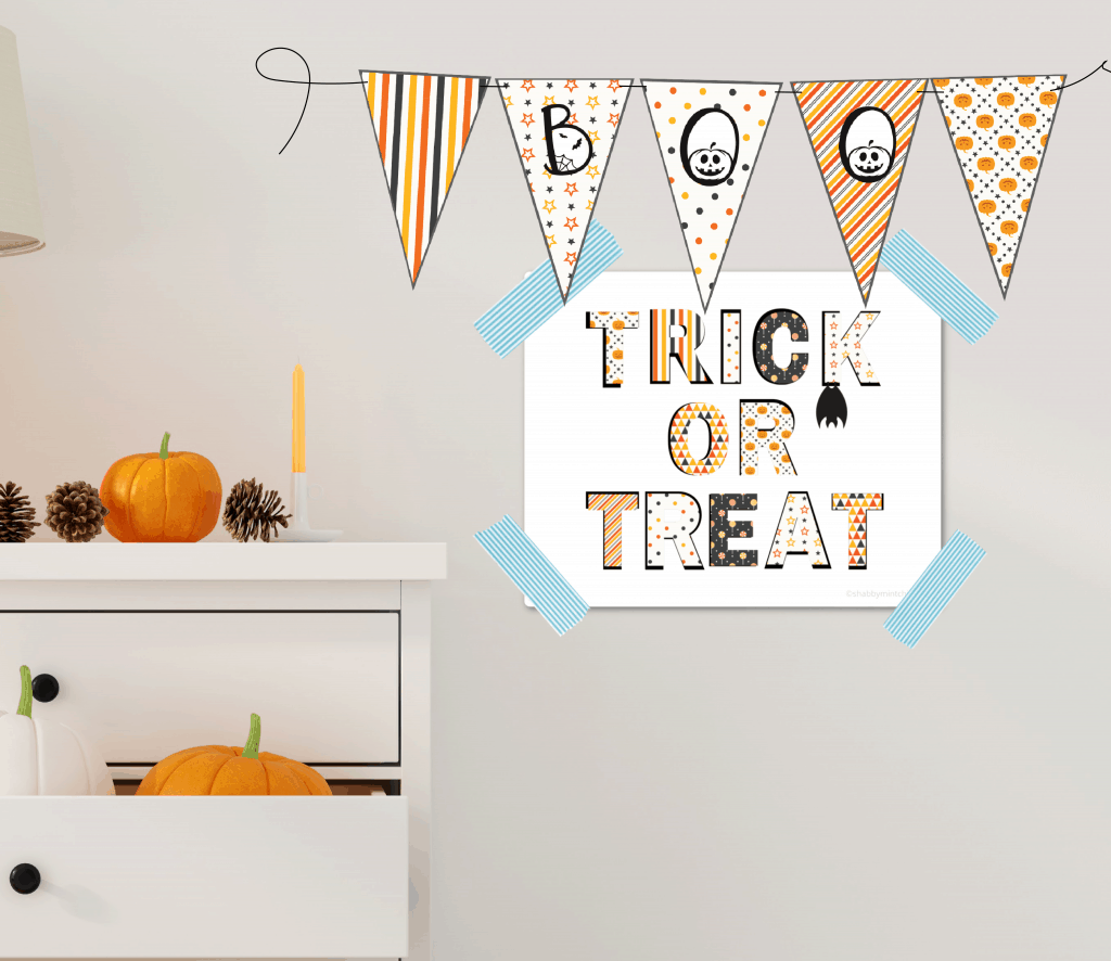 Trick or treat 8x10 wall art freebie