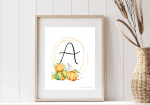 Ten Best Free Fall Monogram Wall Art Printables