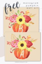 Free Pumpkin Monogram Letters Printable