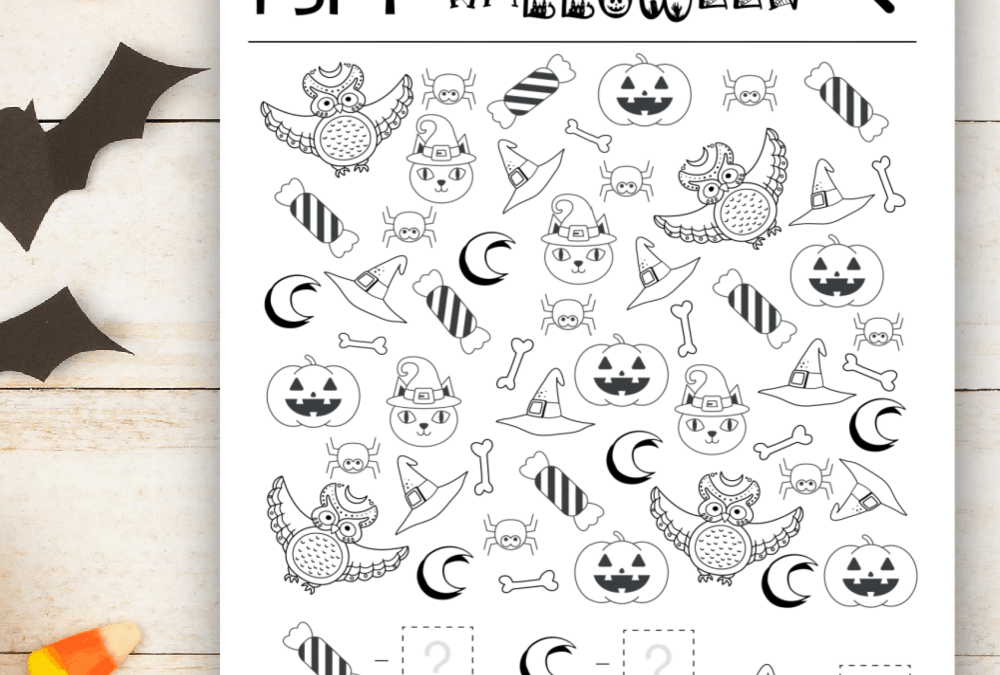 Free Printable I Spy Halloween Activity
