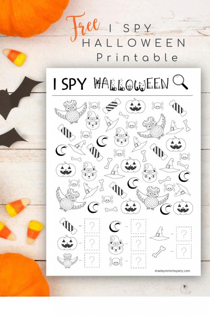 Free Printable I Spy Halloween Activity - Shabby Mint Chic ...