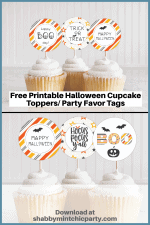 Free Printable: Halloween Cupcake Toppers