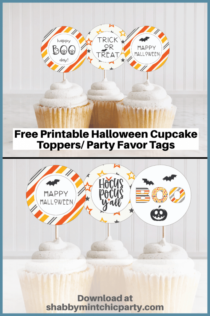mockup of halloween cupcake toppers