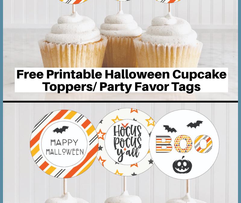 Free Printable: Halloween Cupcake Toppers
