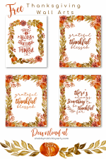 5 Free Thanksgiving Wall Art Printables