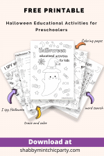 Free Printable Halloween Coloring and Activities Book for Preschoolers