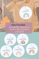 Free Printable Rainbow Baby Monthly Milestone Stickers