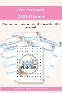 floral printable planner with undated months