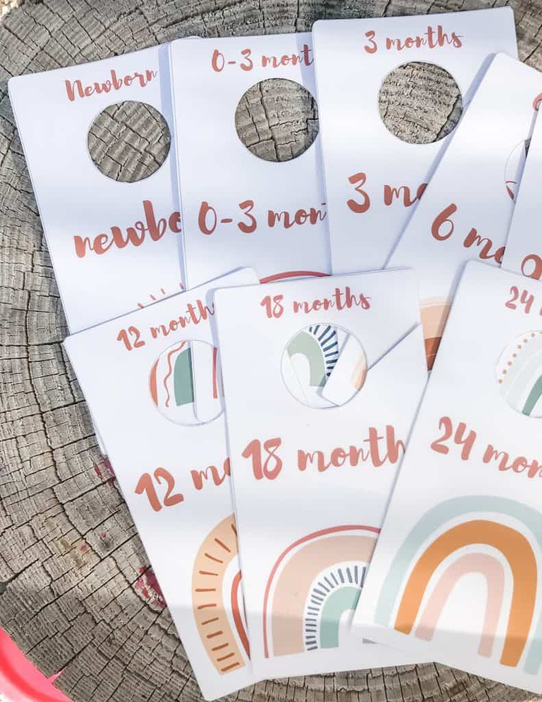 Baby Closet dividers rainbow boho designs