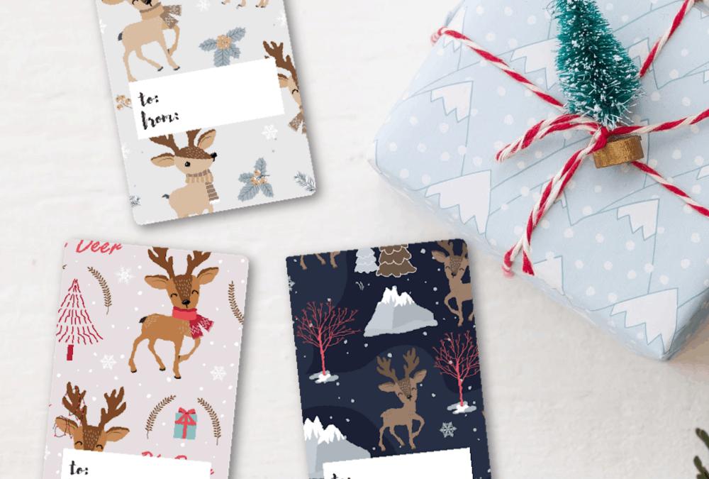 free printable gift tags christmas reindeers