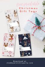 Free Printable Reindeer Christmas Gift Tags