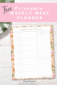free printable fall themed weekly meal planner