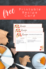 Free Printable Fall Floral Recipe Card