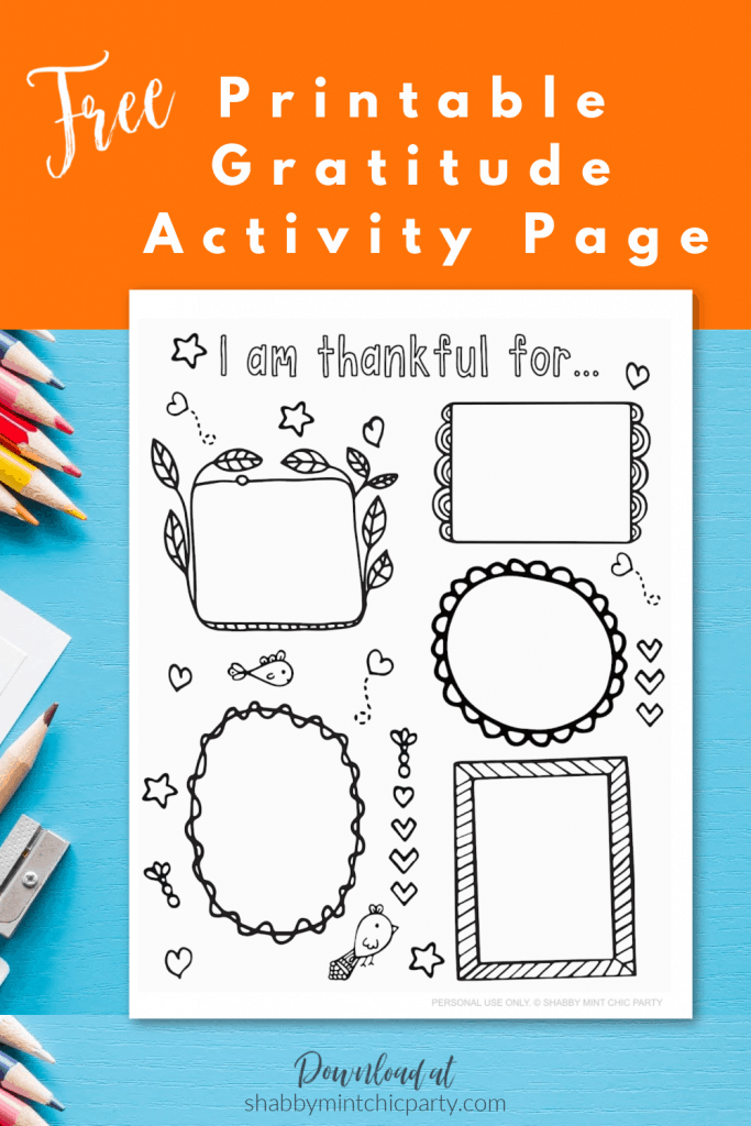 Gratitude thanksgiving coloring and drawing activity for kids