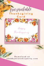 Free Printable Floral Thanksgiving Card