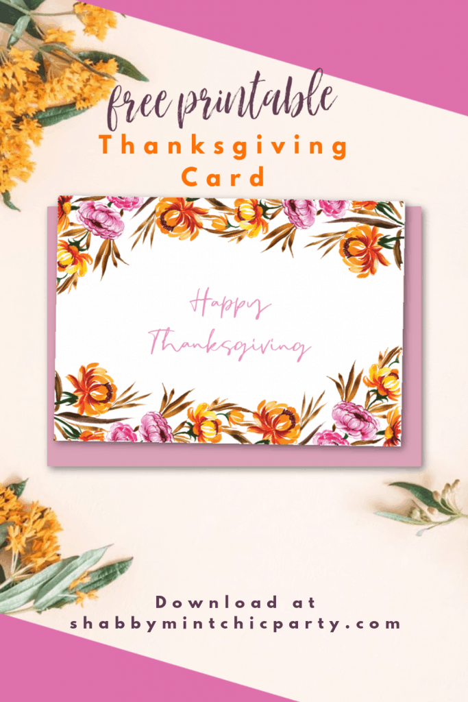 Happy Thanksgiving greeting card freebie printable