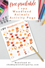 Free Printable I-SPY Woodland Animals Activity