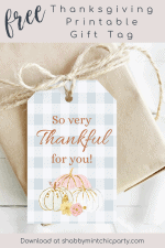Day 6 Free Printable Thanksgiving Gift Tag