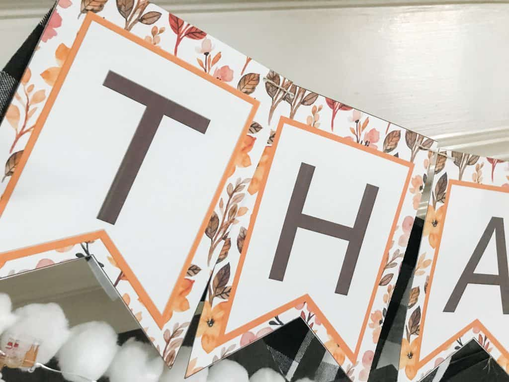thanksgiving thankful banner close up