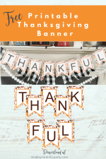 Free Printable Fall Colors Thanksgiving Banner