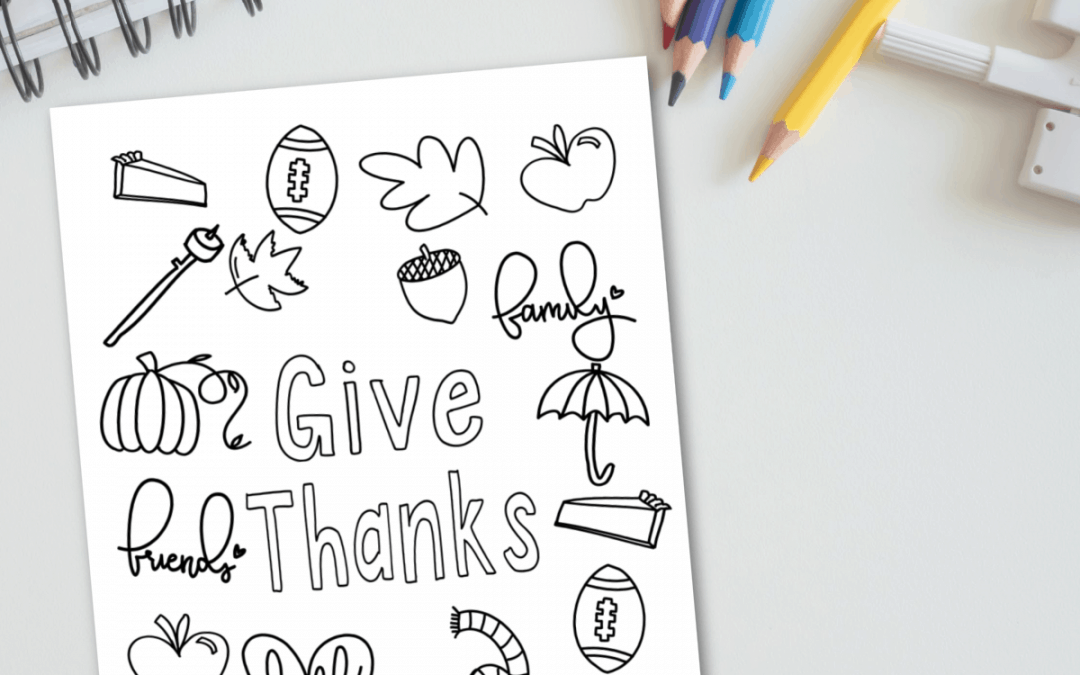 Free printable thanksgiving coloring page blog