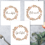 Free Printable: Thankful Grateful Blessed