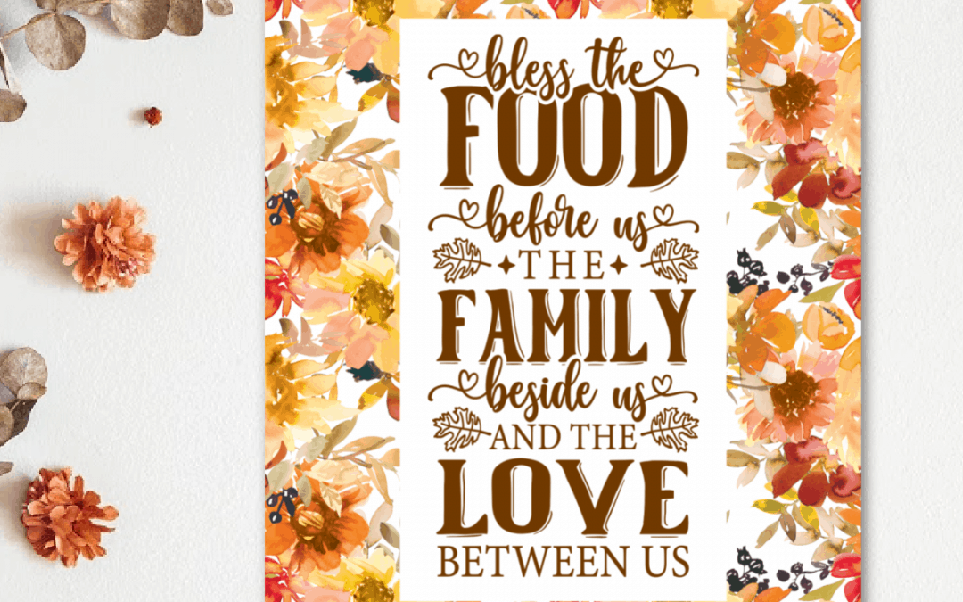 Thanksgiving wall art with florals