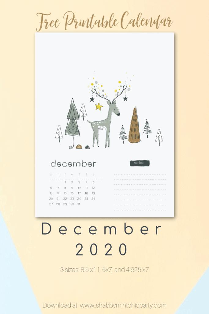 printable december 2020 calendar prinable