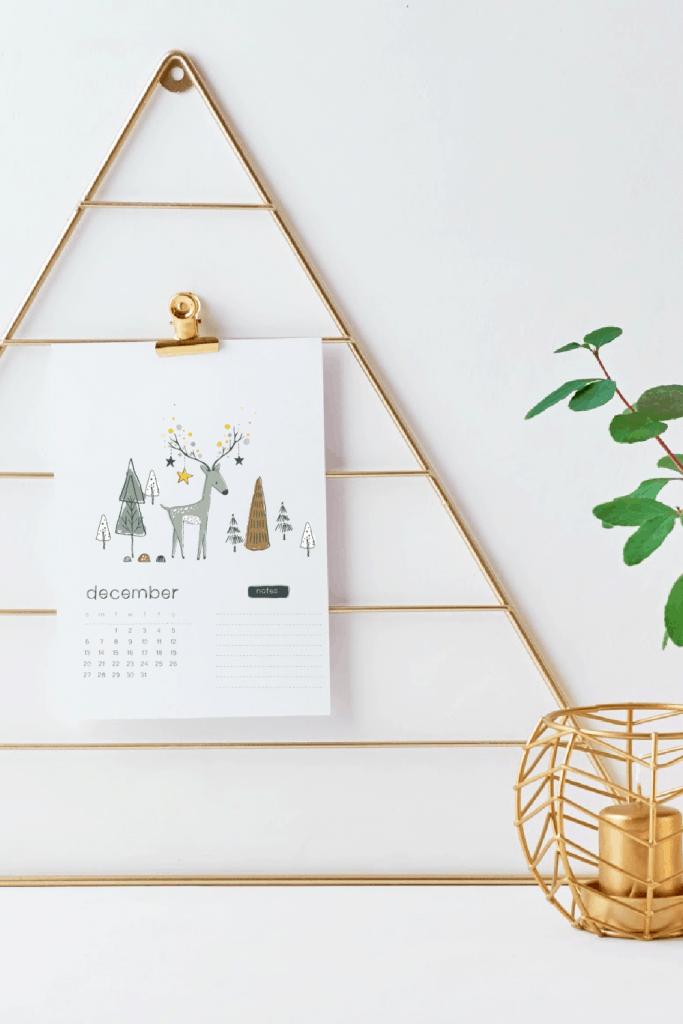 freebie calendar printable december 2020