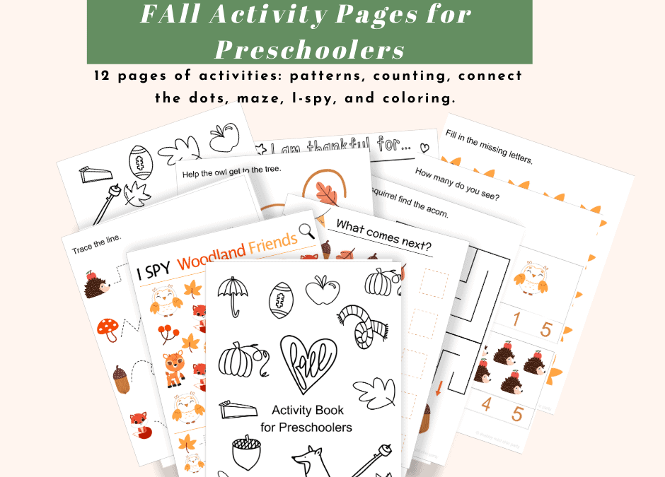 Free Printable Fall Activity Book for Preschoolers