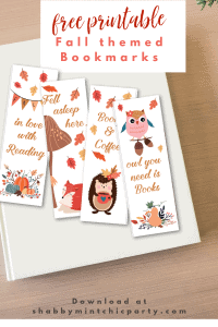 printable bookmark fall themed woodland animals