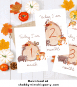 Woodland Monthly Milestone Cards