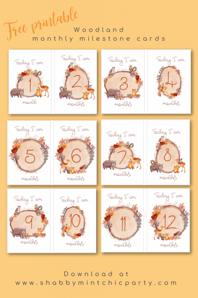 free printable fall theme milestone cards