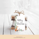 Free Printable Fox Christmas Gift Tag