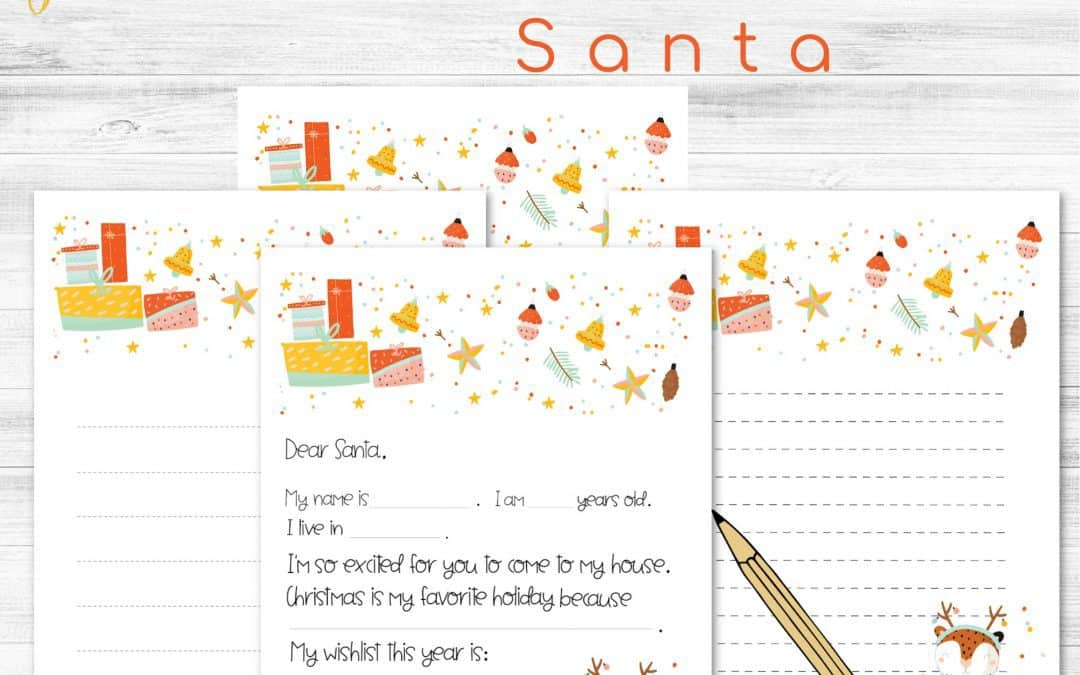 Letters to Santa Printables