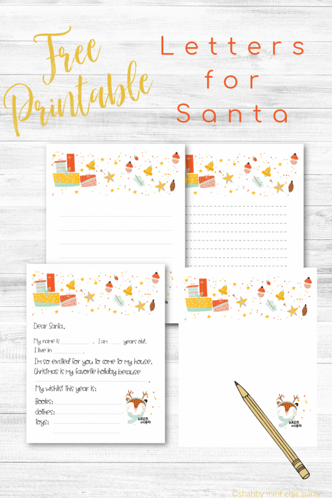 letter to santa 4 versions