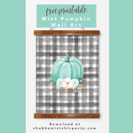 Free Printable Mint Pumpkin Fall Wall Art